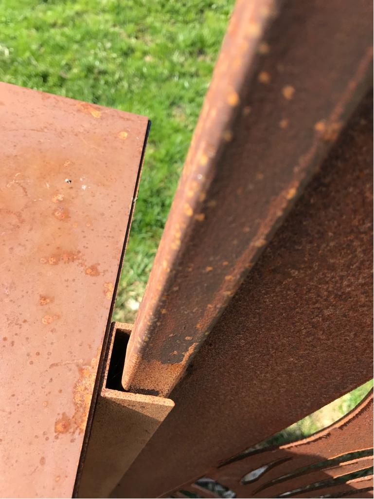 Wie Werden Edelrost Sichtschutz Paravents Aus Metall Befestigt