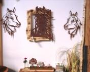 Edelrost Wandbild ohne Rostflecken Pferdedeko rostig Indoor