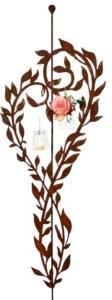 Dekoherz als Gartendeko Rankstab ist ein Deko Herz Metall