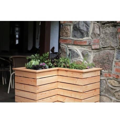 Eck-Hochbeete Holz - Gartendeko - Metallmichl