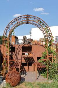 Rosenboegen - Frühling - Gartendeko - Metallkunst
