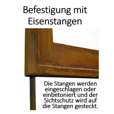 Sichtschutzwand Metall Rost - Montage Anleitung - Gartengestaltung