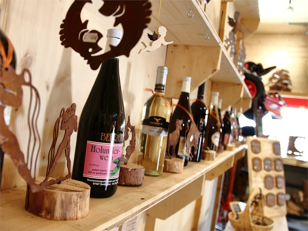 Weinflaschen Dekoration _ Edelrostshop - Metallmichl